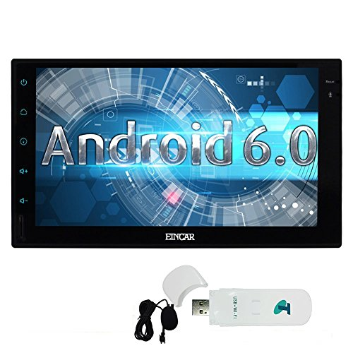 Free External Microphone + Quad-core 1 6G GPS Car Stereo IN Dash Double din  7inch Full Tablet Pannel Multi-touchscreen Head Unit Android 6 0 OS